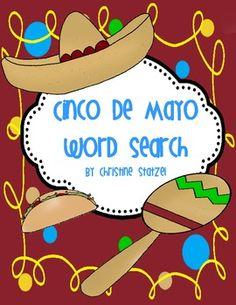 Cinco De Mayo word search