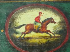 "Peter ""The Great"" Ompir painted box jockey horse tole Primitive"