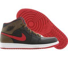 Air Jordan 1 Phat (black / gym red / light olive / white) 364770-040 - $104.99