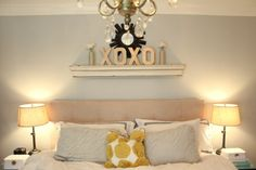 Cute idea for above the bed.
