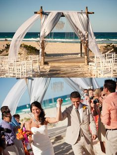 A wedding by the beach