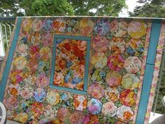 chintz quilt | Chintz' quilt top from Kaffe's book with my own modifications....yet ...