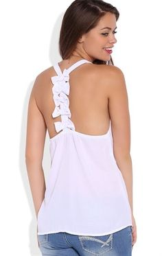 Deb Sops Tank Top with Small Bows on Back