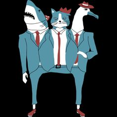 Shark Cat Albatross is a T Shirt designed by obinsun to illustrate your life and is available at Design By Humans