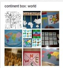 Links to all pinboards for each continent