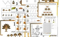 Thanksgiving printable packs