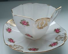 Vintage Queen Anne shaped Shelley Tea Cup and Saucer