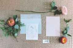 romantic wedding invitation, photo by Chantal Lachance-Gibson Photography http://ruffledblog.com/first-look-inspired-scottish-wedding #weddinginvitations #stationery