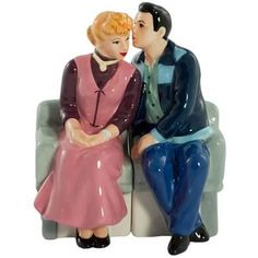 I Love Lucy Salt and Pepper Shakers - Lucy and Ricky all cozy-like!