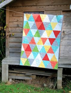 Works in Progress: The Triangle quilt