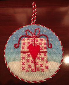 Present Needlepoint Christmas Ornament by Kirk & Bradley