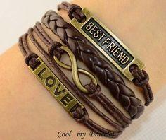 Infinite charm love best friend friendship by Coolmybracelet, $5.49 Wear it on the honeymoon:)