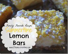 Summertime Lemon Bars