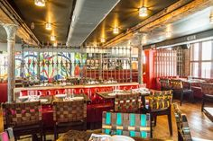 Dos Caminos in the Meatpacking District. #nyc #meatpacking #doscaminos #mexican #restaurant #design #interior