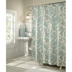 M. Style Birds of a Feather Shower Curtain...beautiful!