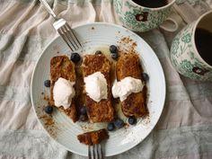 Banana bread french toast via perchancetocook.com // #banana #paleo #bananabread #frenchtoast #recipe