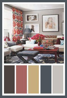 Elle Decor Room #earthcolors