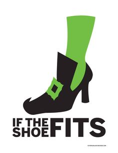 If the Shoe Fits halloween printable.