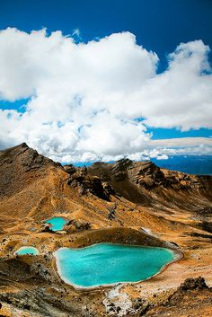 Emerald Lakes    Tongariro National Park, New Zealand