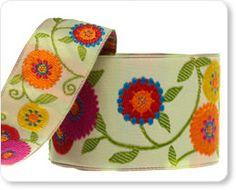 Buy Flowery Suzani ribbon!