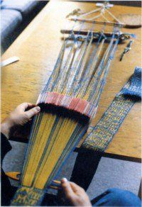 Hochdorf band in progress.....now that's some tablet weaving!