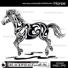 Horse/ Black & White /Digital Graphics /Digital by BLACKWHALEart, $2.50