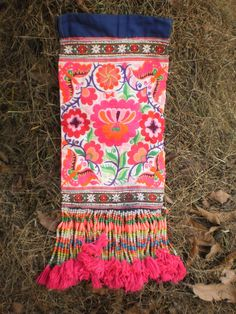 Embroided Textile Panel By The Hmong Hilltribe People