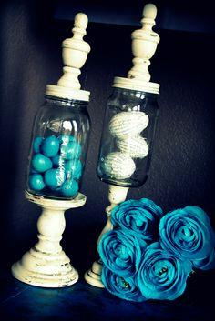 diy cloche...made with pedestal, jar, and knob.....