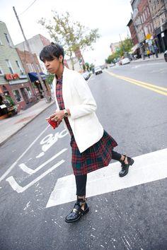 plaids & balenciaga boots #style #fashion #wheredidugetthat