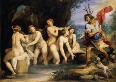 """Diana and Actaeon"". Giuseppe Cesari.  (1603-06)"