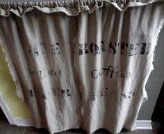 Kitchen curtains on pinterest burlap curtains burlap