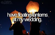 floating lanterns at my wedding