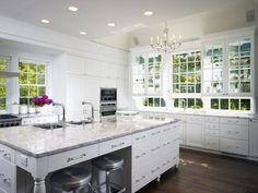 views in a white kitchen