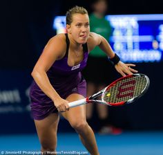 Stick your tongue out, you'll run faster! :) #WTA Barbora Zahlavova Strycova #Luxembourg http://www.womenstennisblog.com/2014/10/15/tough-day-top-seeds-luxembourg-highlights/