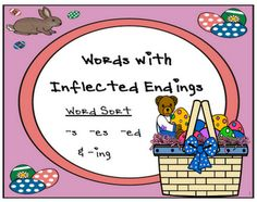 Fern Smith's Inflected Endings Center Game {-s, -es, -ed & -ing}  Available at both Teachers Notebook & TPT!