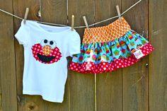 Elmo Birthday outfit