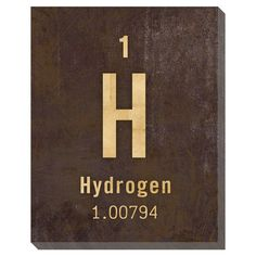 Cute for a boys room that is Science theme or stars & solar system theme.    I pinned this Hydrogen Wall Art from the Canvas Collectibles event at Joss and Main!