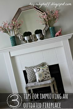 3 Ways to Update an Outdated Fireplace!