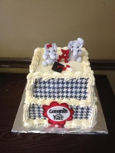 Houndstooth cake from Sweets Cupcakes & Cakes in Tuscaloosa, AL, @Mary Powers Booth  #UltimateTailgate #Fanatics