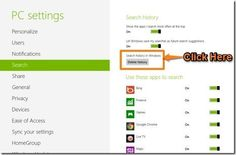 How To Delete Search History In Windows 8