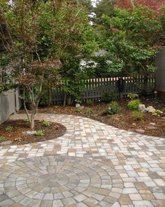 paver patio walkway- color scheme is perfect!
