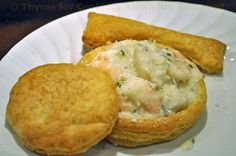 Seafood Newburg in Puff Pastry Shells