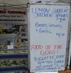 Garlic festival and the lessons learned.