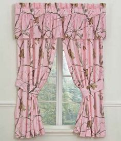 Real Tree Pink Curtains