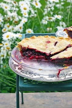 Grape & Blackberry Pie