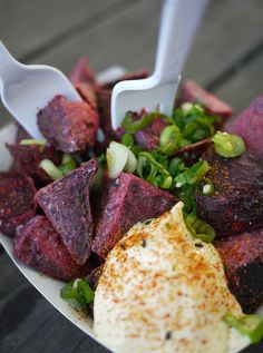 Beet Home Fries from East Side King #sxsw #foodtruck side king, east side, foodi inspir, home fries, favorit food, food truck