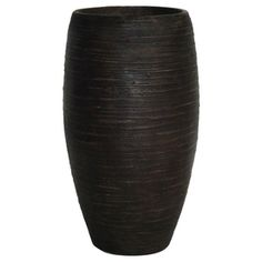 $37.48 -  21-in H x 12-1/4-in W x 12-1/4-in D Bronze Fiberglass Indoor/Outdoor Vase