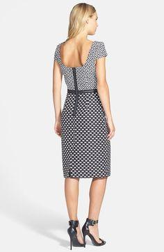 Taylor Dresses Short Sleeve Print Sheath Dress | Nordstrom