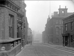 The Sheffield Club left; No. 35 and Joseph Rodgers and Sons Ltd., Norfolk Street Works, cutlery manufacturer, Norfolk Strreet looking towards Fitzalan Square with the junction with Milk Street right