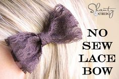 simple, sweet and cheap hair bow